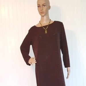 Chico's   Chico's size 2=size 12  Brown Maxi dress